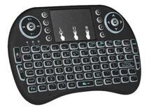 Mini Teclado Controle Sem Fio Para Smart Tv Box Pc - Backlit -