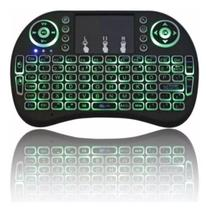 Mini Teclado e Controle Remoto Touchpad para TV PC e Games -