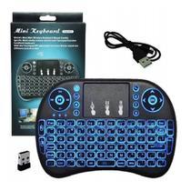 Mini Teclado Iluminado Controle Sem Fio P Smart Tv Box Nfe - Mini Keyboard