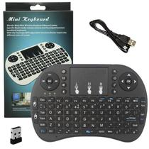 Mini Teclado Mouse Sem Fio Touchpad Wireless Wifi Android Tv Usb Ps3 Xbox Preto - S/m