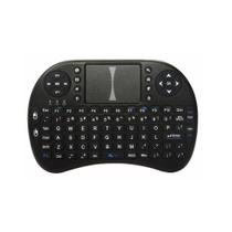 Mini Teclado Sem Fio Com Touchpad Mouse Ideal Para Smart Tv Pc Notebook - Preto - Importado