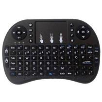 Mini Teclado Sem Fio Com Touchpad Mouse Ideal Para Smart Tv Pc Notebook - Preto - Rpc