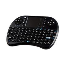 Mini Teclado Sem Fio Touchpad Keyboard Universal Smart Tv Pc Notebook Vídeo game Preto - Exbom