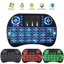 Mini Teclado Sem Fio Wireless Com Led 3 Cores Touchpad Compatível Com Consoles Smart TVs TVs Box PC Notebook - Inova