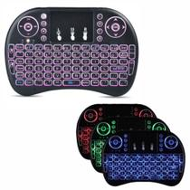 Mini teclado touch pad led wireless para celular game smart tv - Master