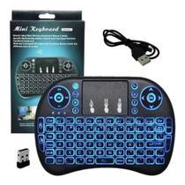 Mini teclado wireless com led para tv smart / android  / pc - Backlit -