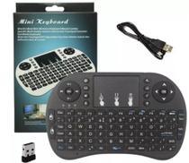 Mini Teclado Wireless Keyboard com Touchpad Usb Android Console e Tv -