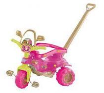Mini Triciclo Tico Tico Velotrol Motoquinha Infantil Menina Dino Rosa Magic Toys 2804 -