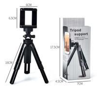 Mini Tripé de Mesa com Suporte de Celular para Fotos e Vídeos - Equifoto