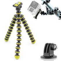 Mini Tripé Flexível GoPro - TT813 - 26,5cm Amarelo - Leadwin