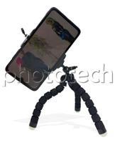 Mini tripé flexivel para celular tipo polvo com suporte (preto) - Yasin