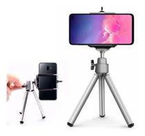 Mini Tripé Para Celular Câmera Smartphone Prata Articulado Universal - Xtrad