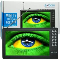 Mini Tv Digital Portátil Hd 7 Polegadas Usb Sd Isdbt Exbom