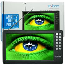 Mini Tv Digital Portátil HD Tela 7.0 Polegadas Usb Sd Rádio Fm Isdb-t Monitor Exbom MTV-70A