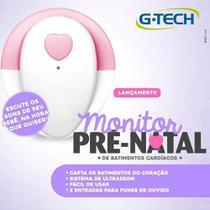 Mini Ultrassom Para Ouvir E Gravar Sons Batimentos Do Coração Do Bebê Na Gravidez - Gtech