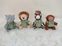 Mini Ursinhos Para Nichos Safári Verde Liso - Bebê Enxovais