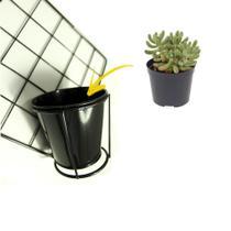 Mini Vaso de Metal para Ornamentação de Parede - Shopud