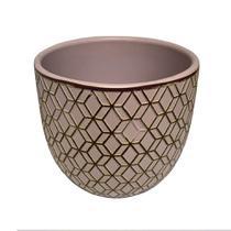 Mini vaso para Plantas Cachepot Geométrico 12cm de Cerâmica- Casa ambiente - Edfort
