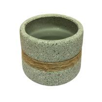 Mini vaso para Plantas Cachepot Juta 12cm de Cerâmica- Casa ambiente - Edfort