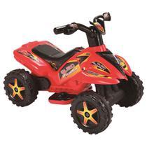 Mini Veículo Elétrico - 6V - Quadriciclo - Quad Raptor - Vermelho - New Toys -