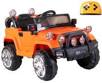 Mini Veículo Infantil Elétrico 3x1 Jipe 12v Controle Remoto Laranja Glee S8-O -
