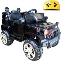 Mini Veículo Infantil Elétrico 3x1 Jipe 12v Controle Remoto Preto Glee S8-B -