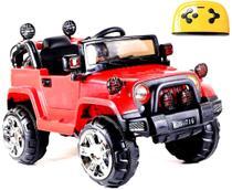 Mini Veículo Infantil Elétrico 3x1 Jipe 12v Controle Remoto Vermelho Glee S8-R -