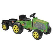 Mini Veículo Trator Com Caçamba Biemme Fazendeiro A Pedal Verde -
