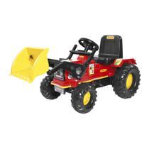 Mini Veículo Trator Com Pá Biemme Farmer A Pedal Vermelho -