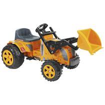 Mini Veículo Trator Com Pá Biemme Fazendeiro A Pedal Amarelo -