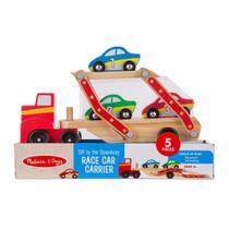 Mini Veículos - Carreta com Carrinhos de Corrida - Melissa And Doug - New Toys
