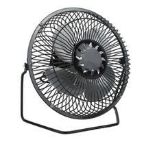 Mini ventilador de metal usb portátil potente e ultra silencioso com adaptador de tomada bivolt - Gimp