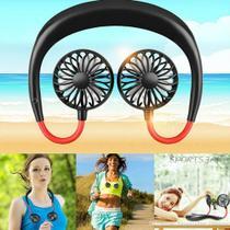 Mini Ventilador De Pescoço  preto Esportivo Mi Fan Lazy Lançamento -