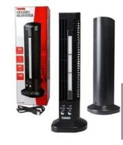 Mini Ventilador E Abajur Base Vertical 2 Velocidades Preto - Tmt