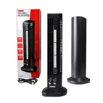 Mini Ventilador e Abajur Base Vertical MLF-002 Tomate USB Torre Led 2 Velocidades Preto -