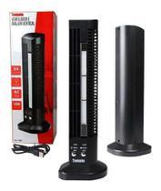 Mini Ventilador e Abajur Base Vertical MLF-002 Tomate USB Torre Led 2 Velocidades -