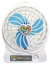 Mini Ventilador Portatil com Bateria Carregavel Usb para Notebook e Pc Cor Branco (JA90394) - Centro