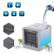 Mini Ventilador Portátil Cooler Umidificador Luz Led - Megafun