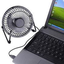 Mini Ventilador USB Potente Silencioso Portatil Notebook Computador Preto - Ideal