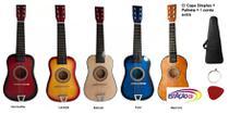 Mini Violão Infantil Acústico Cordas Aço - Brinquedo + Capa - Guitar