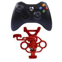 Mini Volante Controle Xbox 360 Jogos De Corrida Vermelho - Própria