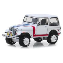 Miniatura - 1:64 - 1981 Jeep CJ-7 Custom - Barret-Jackson - Greenlight -