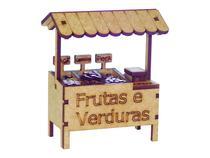 Miniatura Barraca de Frutas e Verduras A074 - Woodplan