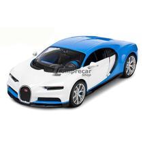 485d9e88f Miniatura Bugatti Chiron Azul Maisto Exotics 1/24 -
