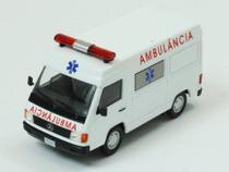 Miniatura Carros Veículos de Serviço do Brasil edição 16 - Mercedes Benz Mb 180 Ambulância