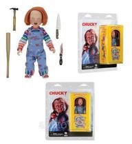 Miniatura Chucky,  Boneco Assassino (Childs Play) c/ acessórios - NECA - Jp_parallel_import