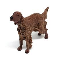 Miniatura de Cachorro Irish Red Setter Cachorrinho Brinquedo Gulliver -