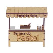 Miniatura em MDF Barraca de Pastel Woodplan 10,5 x 11 x 5 cm  A071 -