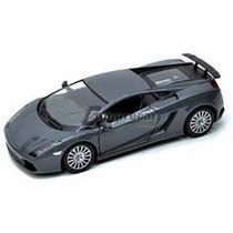 Miniatura Lamborghini Gallardo Superleggera Cinza 1/24 -