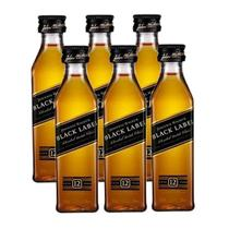 Miniatura Mini Whisky Black Label 50ml 06 Unidades - Johnnie walker